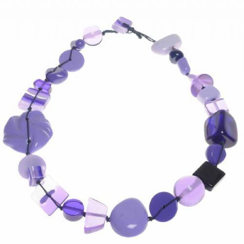 Jackie Brazil Indiana short necklace in Purple